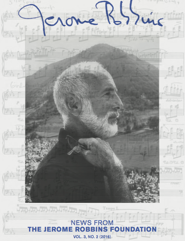 Jerome Robbins Newsletter Cover
