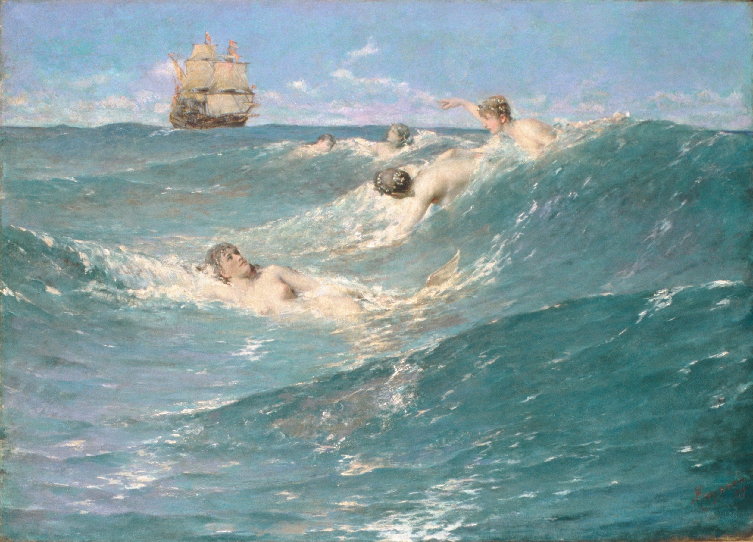 George Willoughby Maynard,  In Strange Seas , 1889.