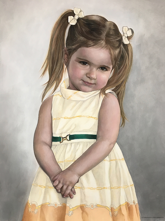 """Alexandra."" Life size pastel. ©Virginia Freyermuth 2017 Inspired by a photograph by Mark Steines"