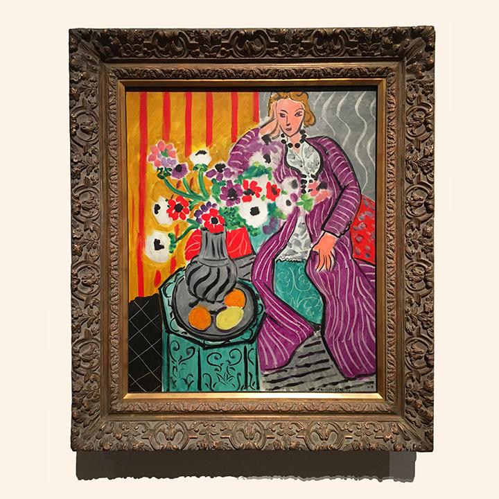 Henri Matisse, Purple Robe and Anemones. 1937