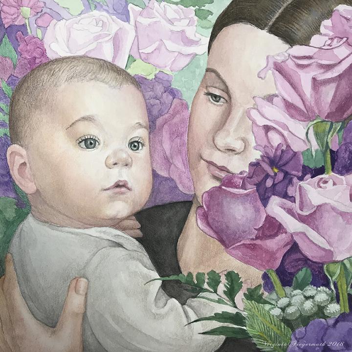 A Sense of Wonder  Watercolor, Gouache, Colored Pencil  Virginia Freyermuth