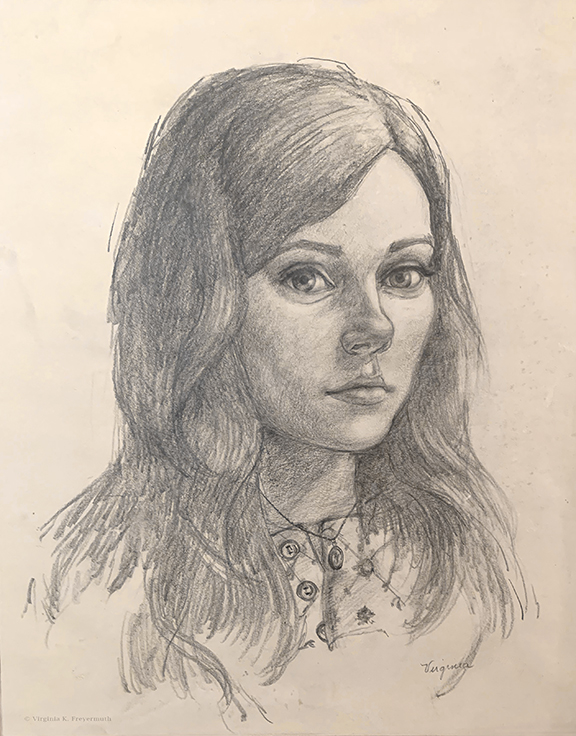 Virginia: Early Self Portrait