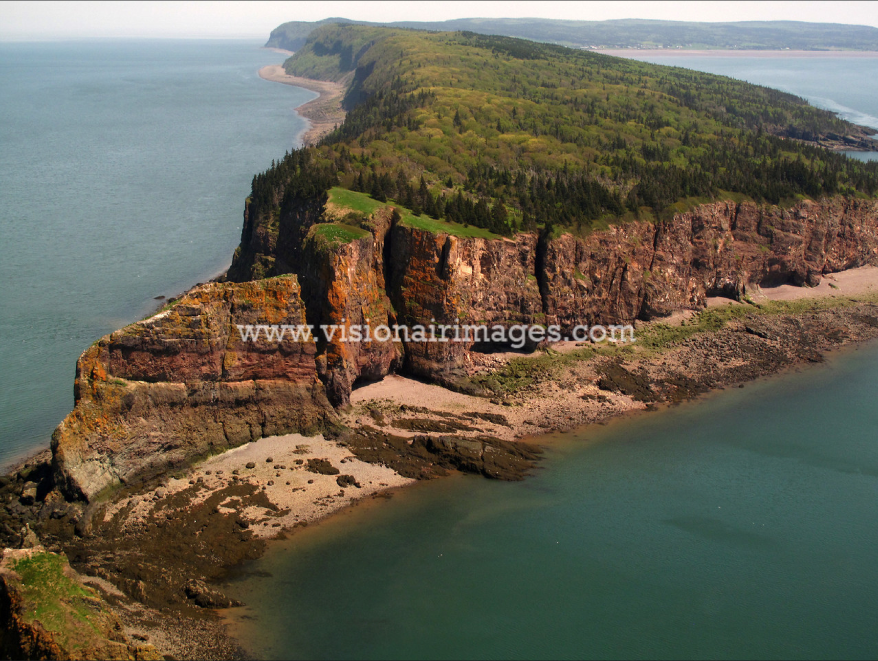 NOT MY IMAGE, just showing how high and beautiful Cape Split from air or boat.