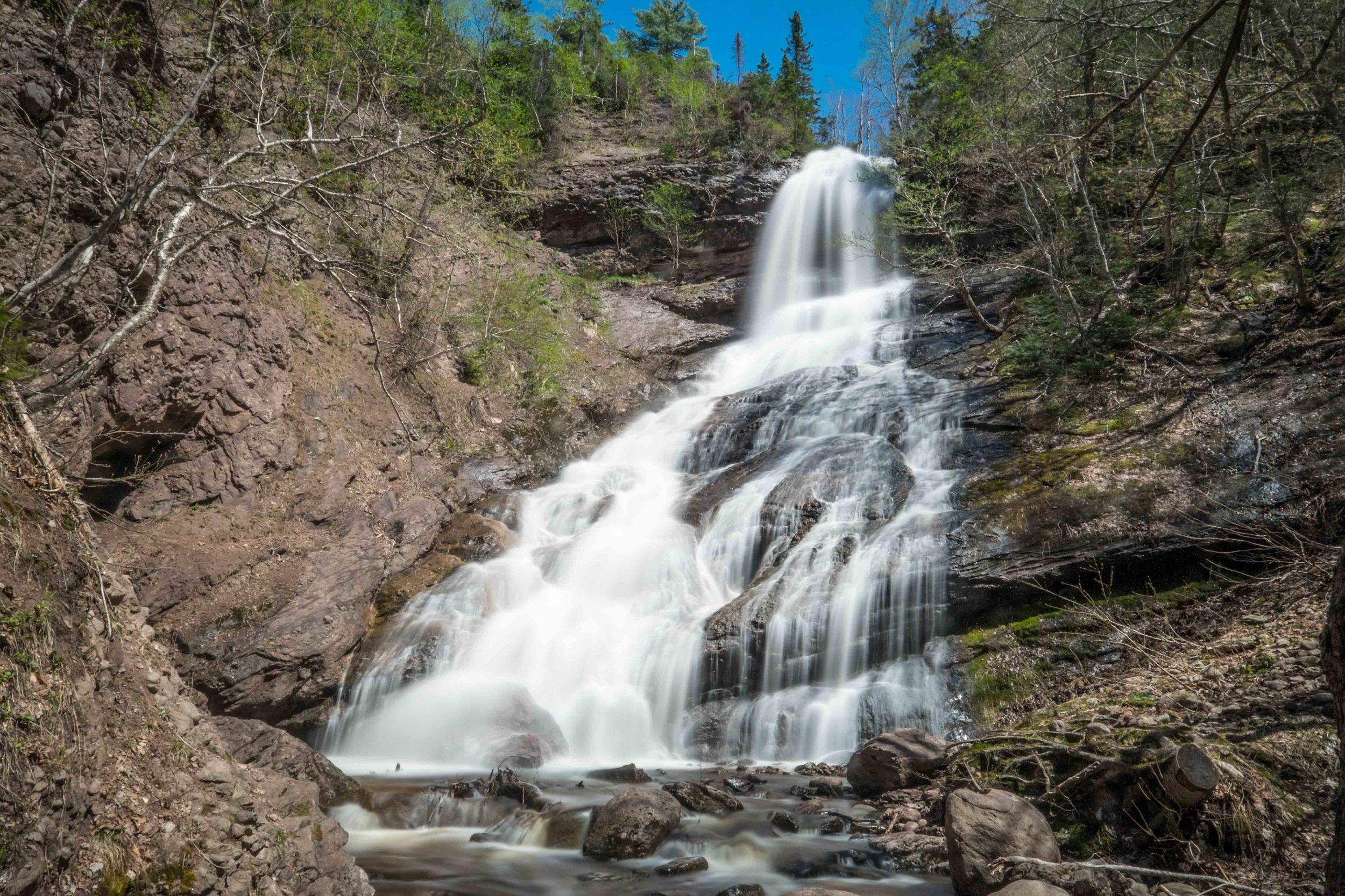 Beulach Ban Falls, Cape Breton, Nova Scotia.