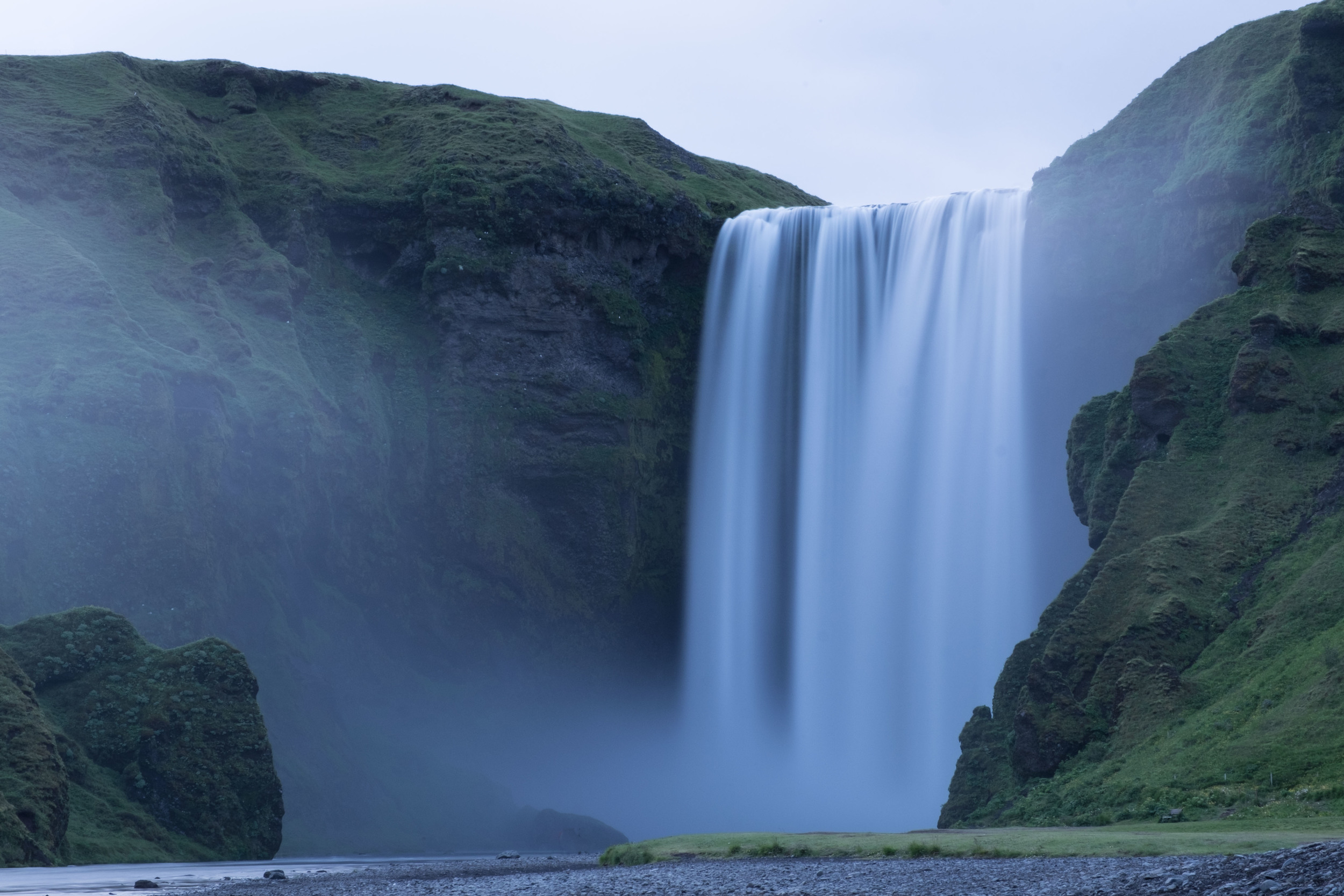 The massive Skogafoss from afar, I was taking this shot just before I met @barefootandbearded for the first time.