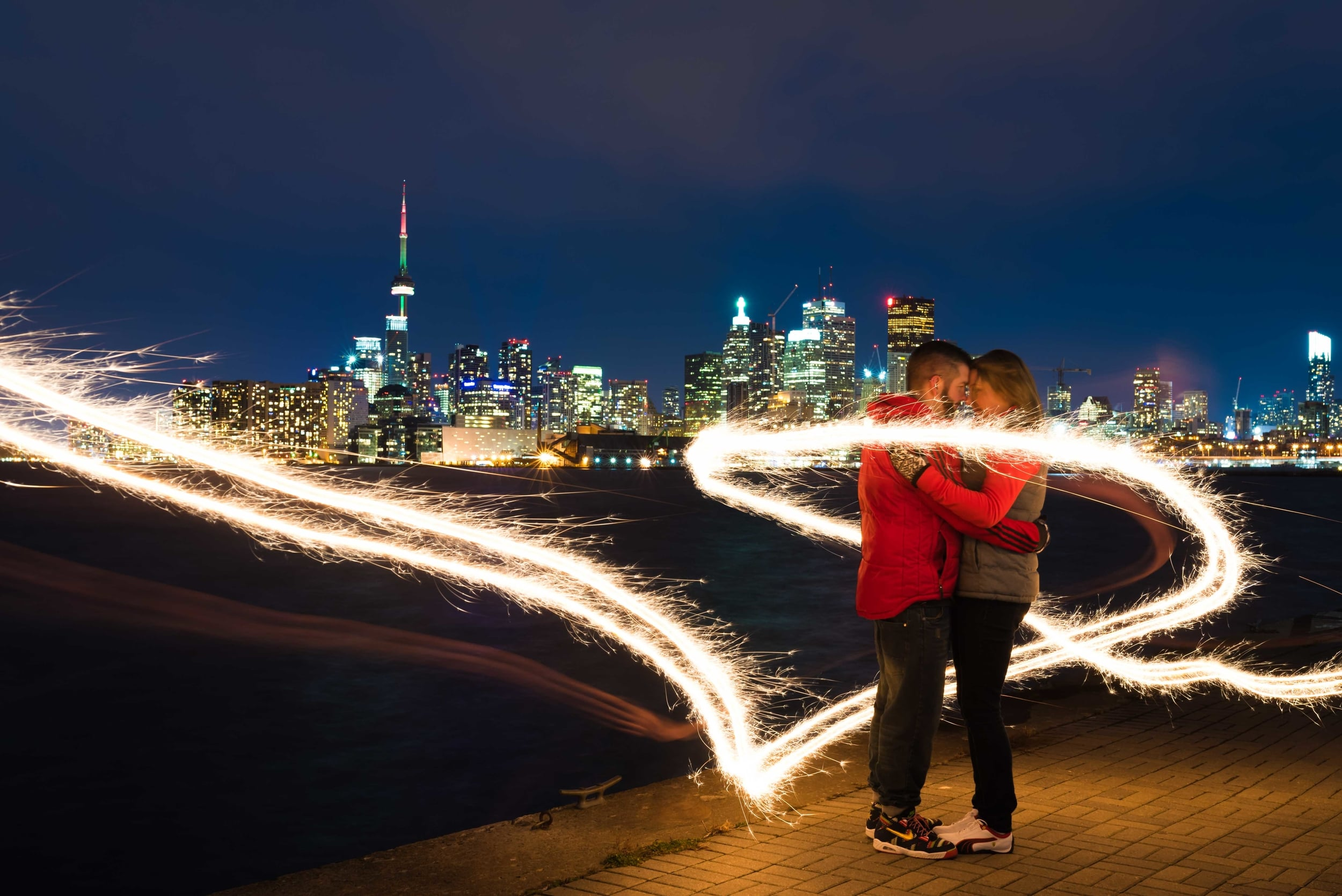 Two very still people, 10 sec exposure & sparklers = THIS!