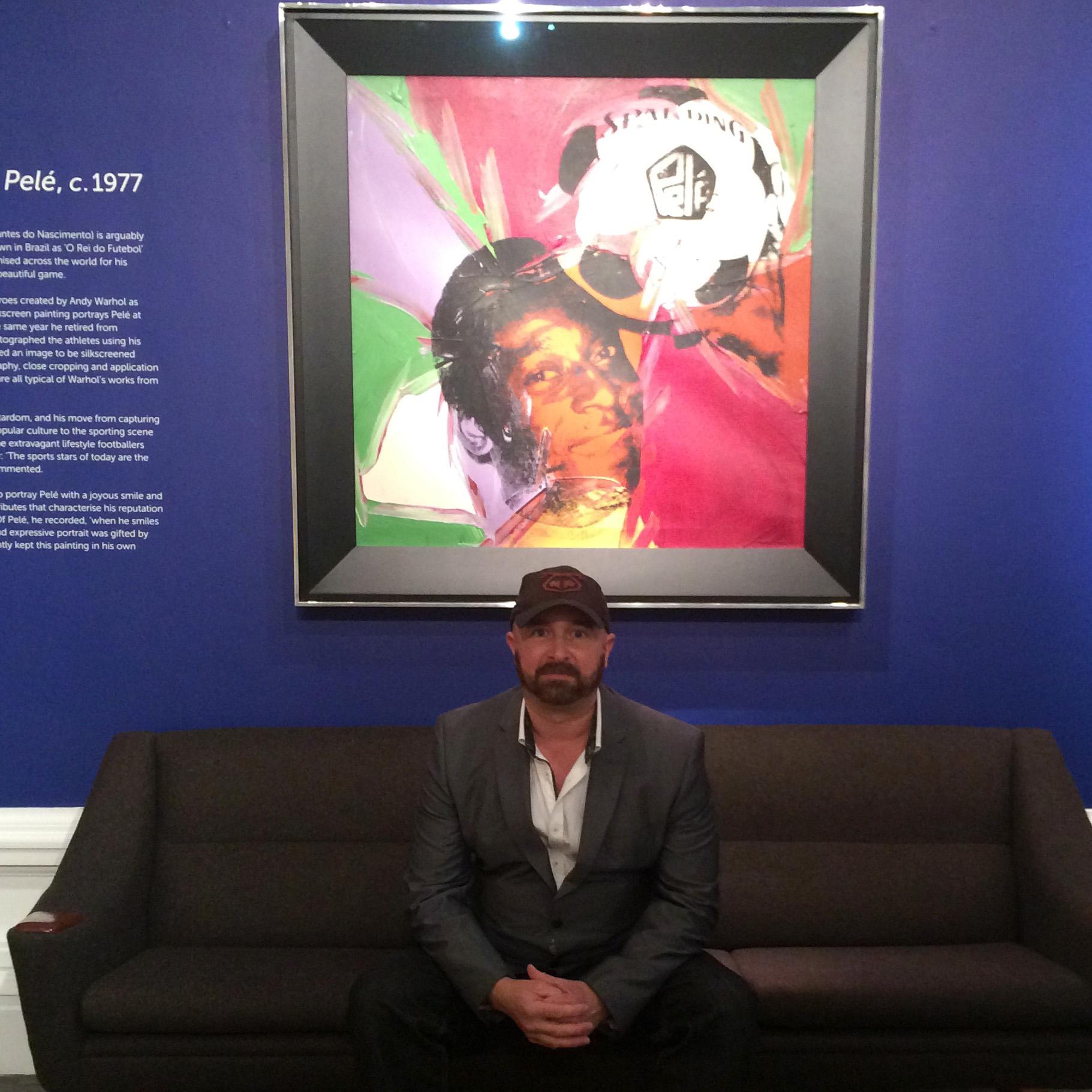 Louis Sidoli Neon Art: Pele Art Life Football - Halyon Gallery - 9