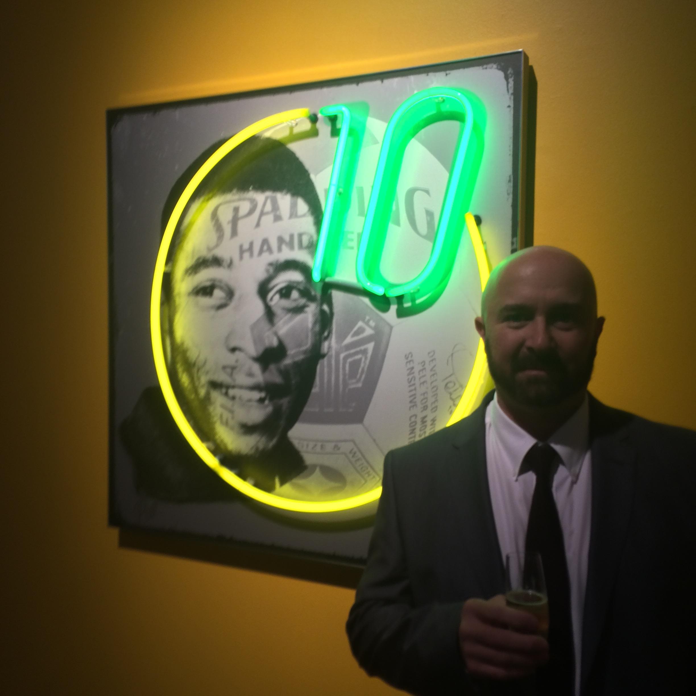 Louis Sidoli Neon Art: Pele Art Life Football - Halyon Gallery - 11
