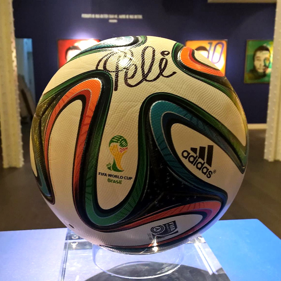 Pele exhibition - National Football Museum, Manchester. -