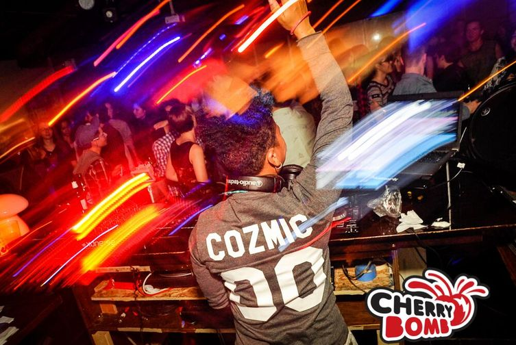 You can go dance the night away to DJ Cozmic Cat at Cherry Bomb and other great events - click pic for event dates
