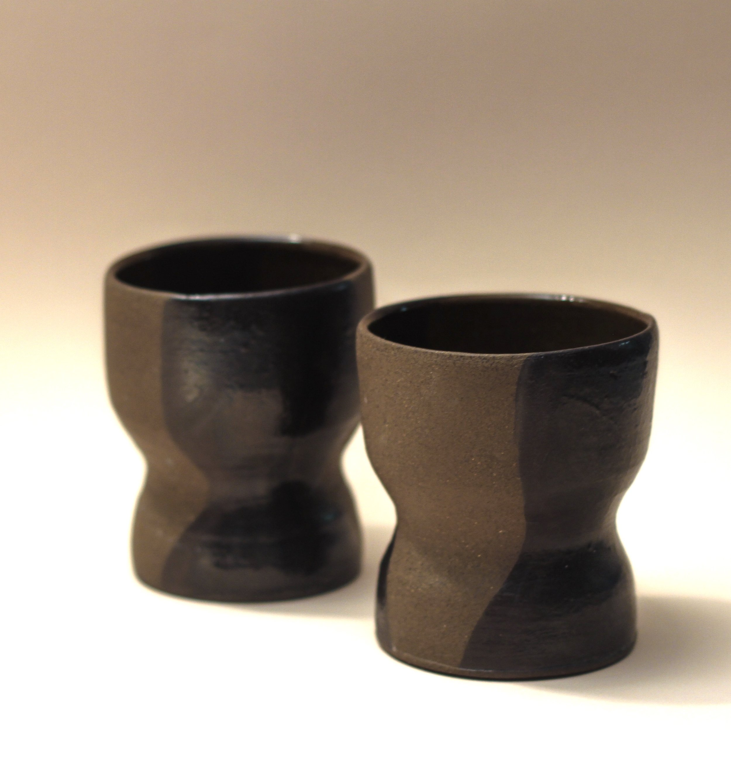 Easy Goblet in Black + Brown