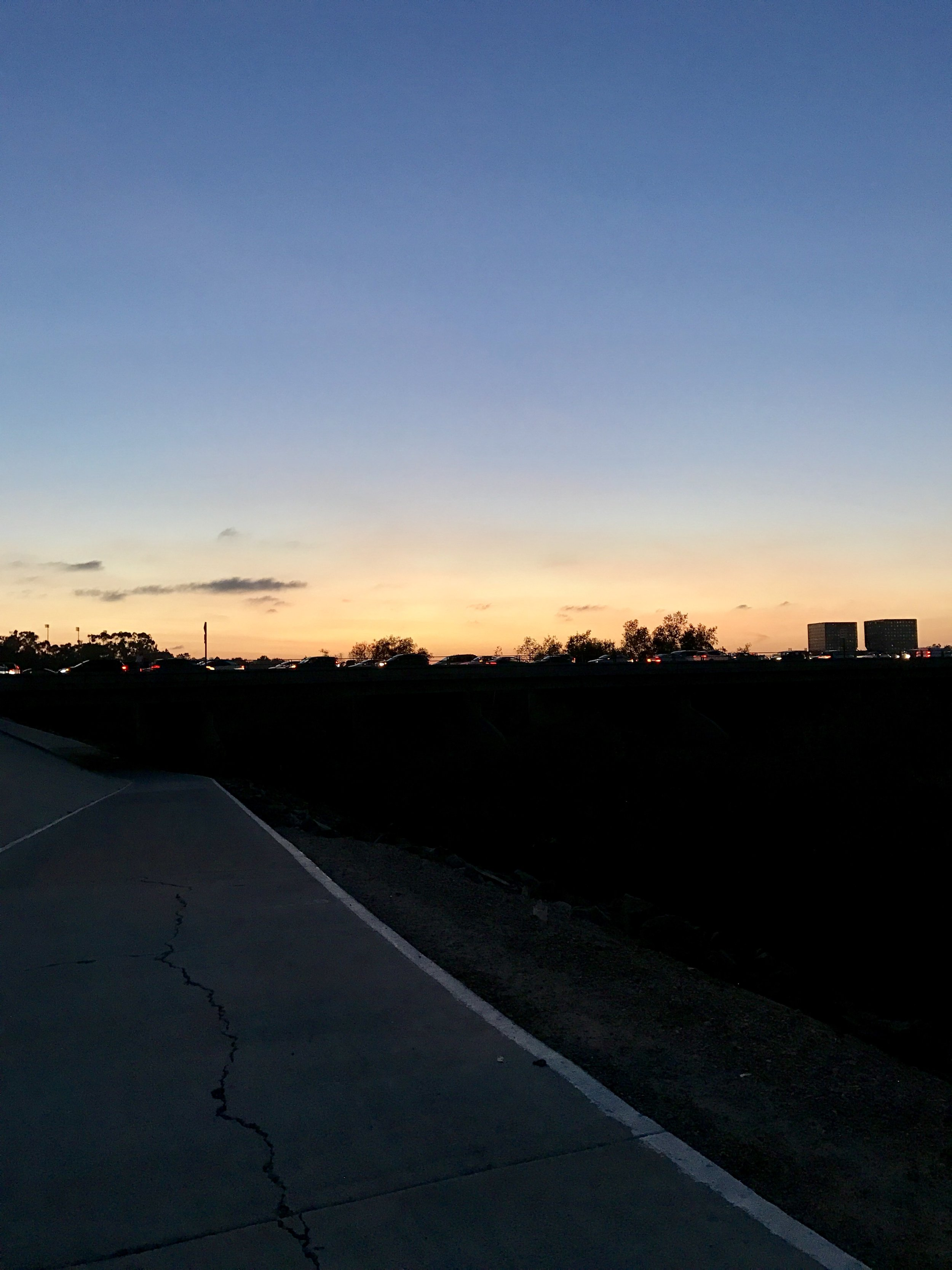 Sunset on the San Diego Creek Trail  December 5th - Irvine, CA