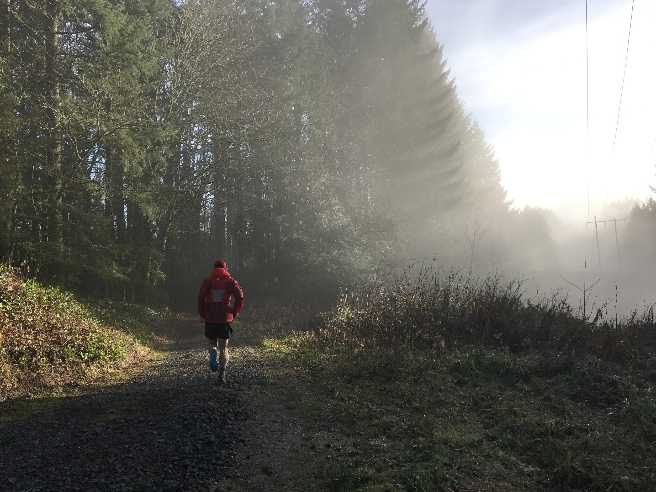 Jordan Chasing the Sun Beams - BPA Road, Portland, OR