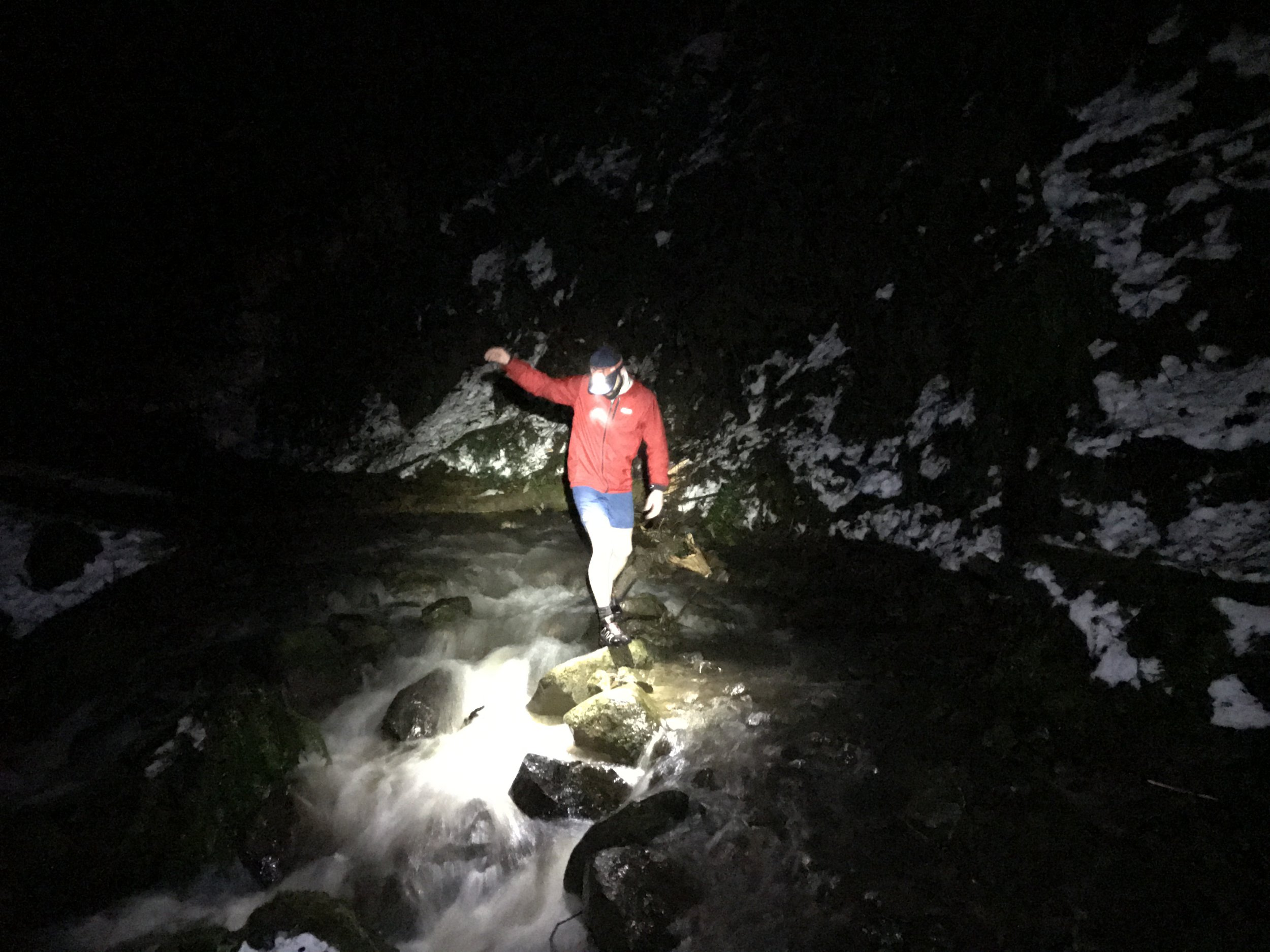 Jordan navigating the treacherous waters of Forest Park - North Portland