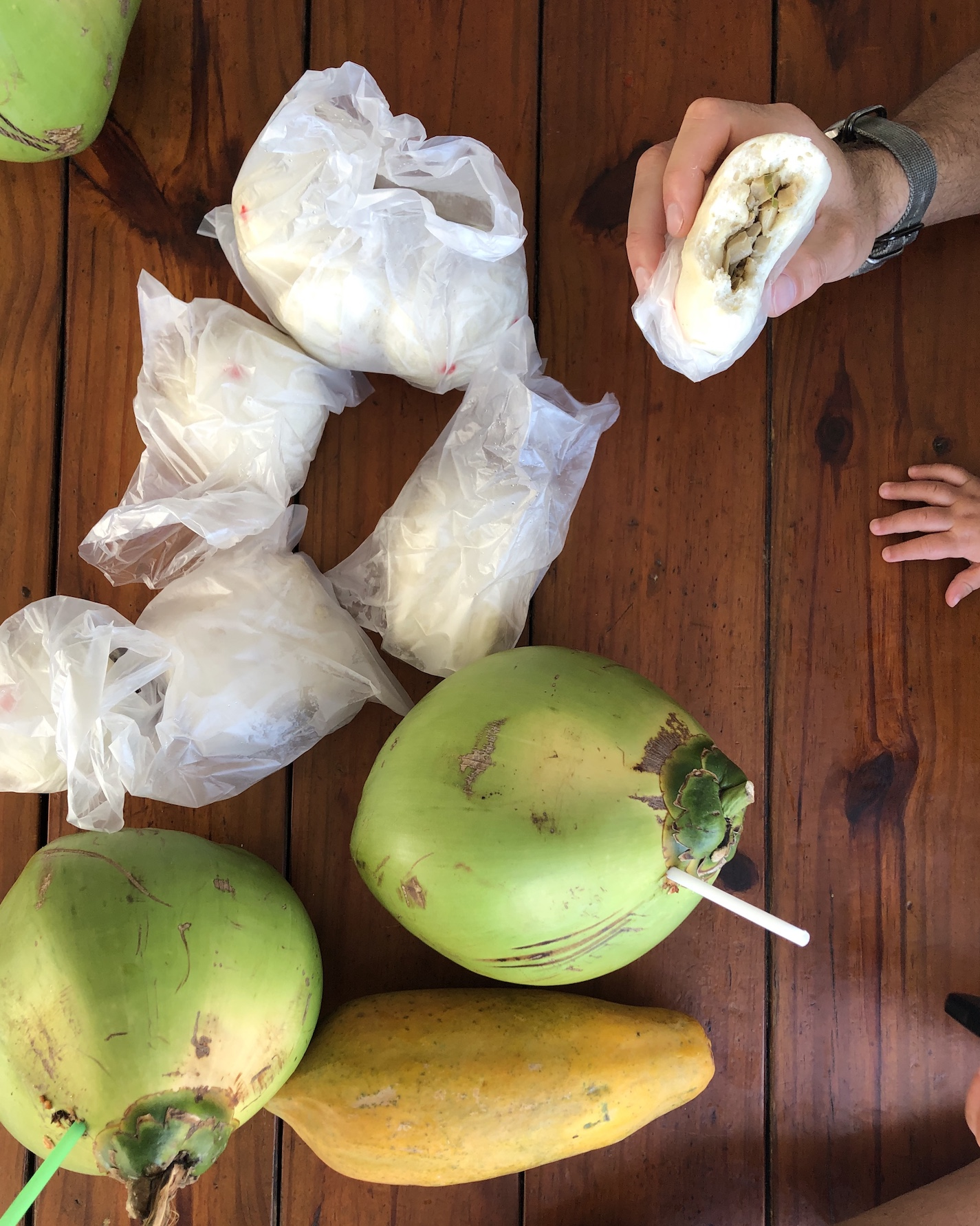 coconuts and bao zi