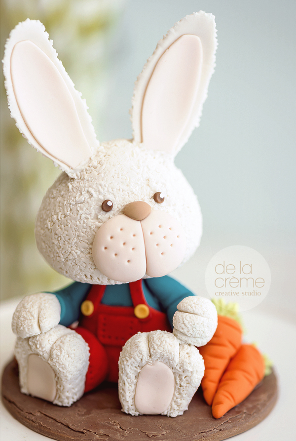 Meet Harry the Bunny, the edible cake topper. Question...why make him edible when he's too cute to eat?!