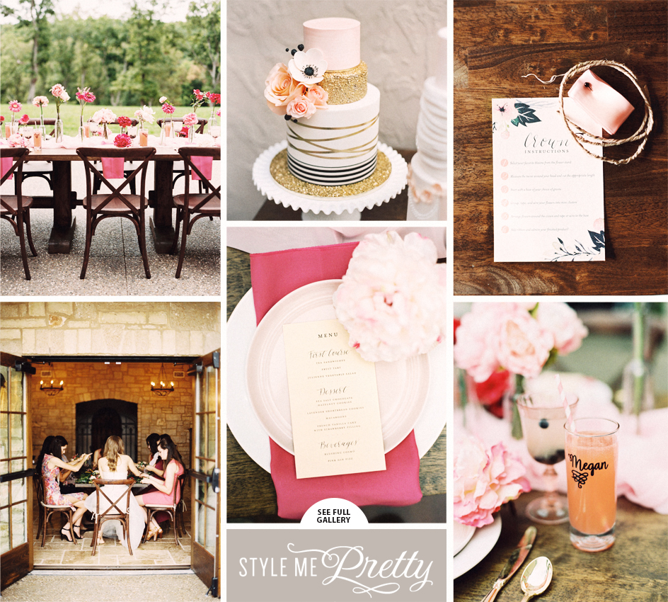 Photography:  Untamed Heart Photography  | Coordination:  Mr. & Mrs. Wedding Events  | Floral Design:  Les Bouquets  | Cake:  De La Creme  | Stationery:  Paperkeet  | Catering:  Patty Long Catering  | Hair And Makeup:  Danielle Style  | Calligraphy:  Red Calligraphy  | Wedding Venue:  Silver Oaks Chateau | Publisher: Style Me Pretty ( November 9, 2015 )