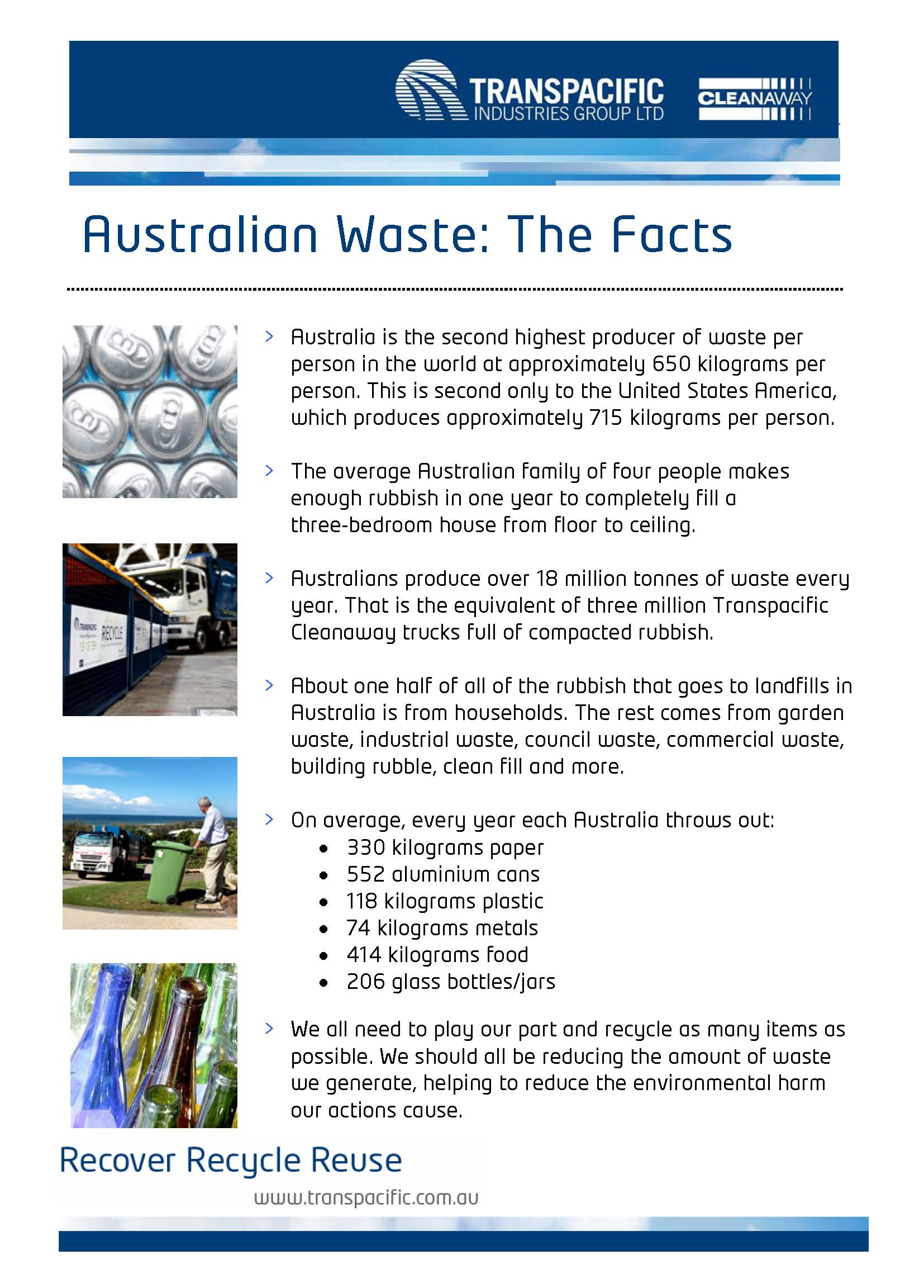 The Facts about Australian Waste