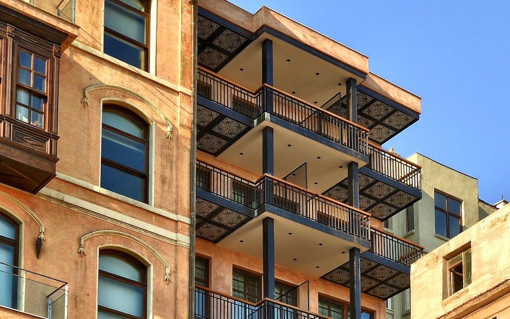 Balconies at the Georges Hotel