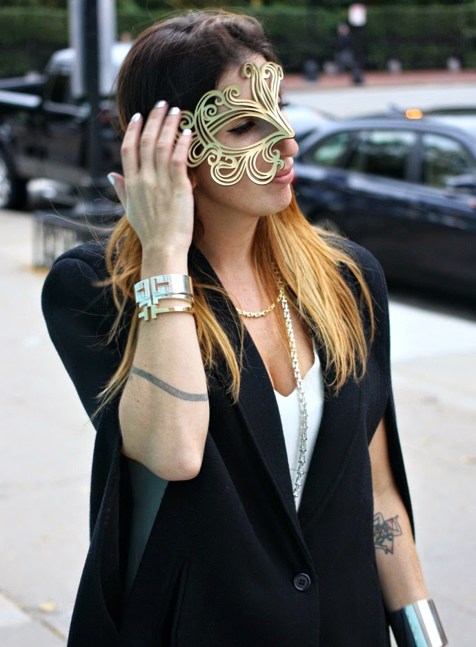 """Handmade Leather Mask, December Thieves,Jewelry, Tiffany """"T"""" Collection,Cape, Lord and Taylor"""