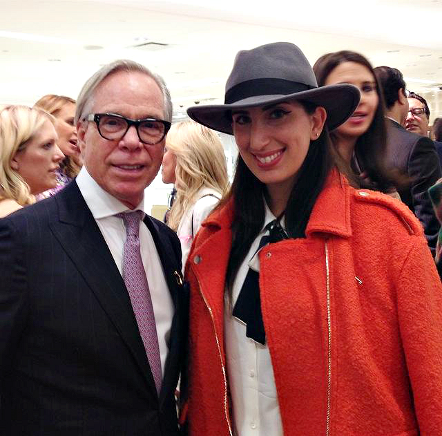 Tommy Hilfiger at the BCRF party featuring his wife's handbags