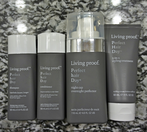 Living Proof PhD (Perfect hair Day) travel kit , $29 and  night cap overnight perfector , $28, courtesy of Living Proof.
