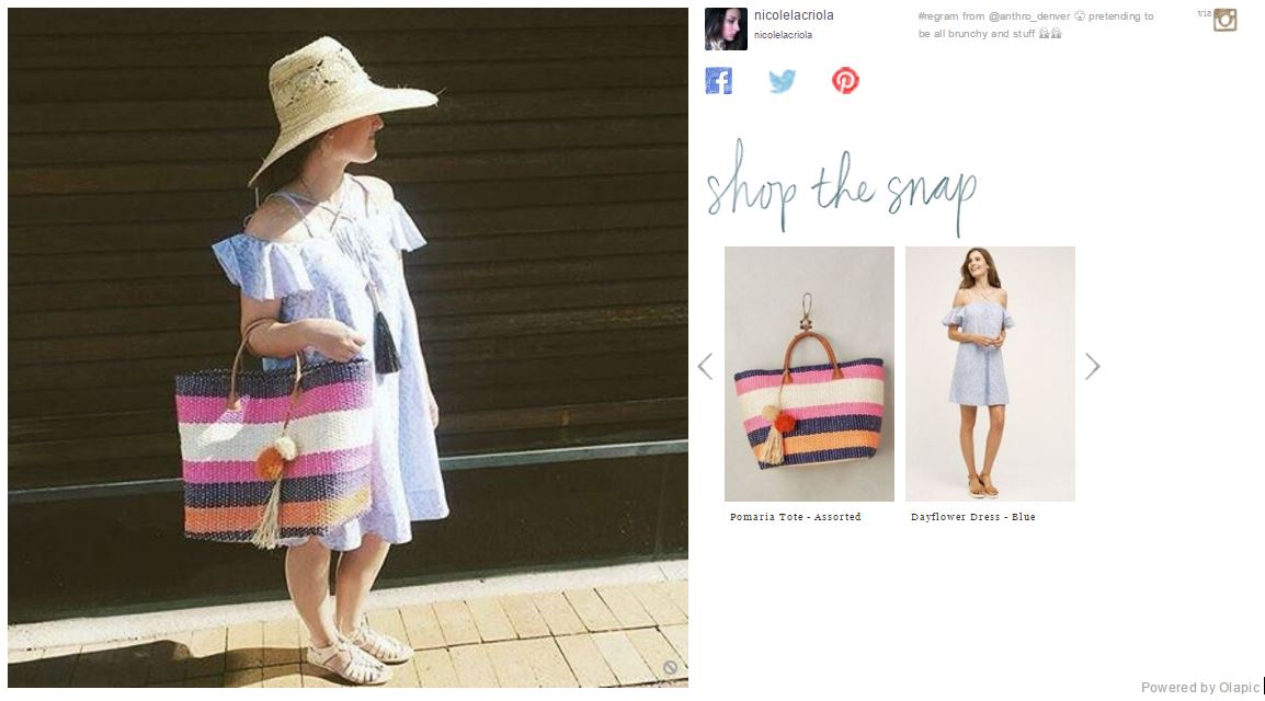 A (shoppable) pic uploaded onto Anthropolgoie.com by customer.