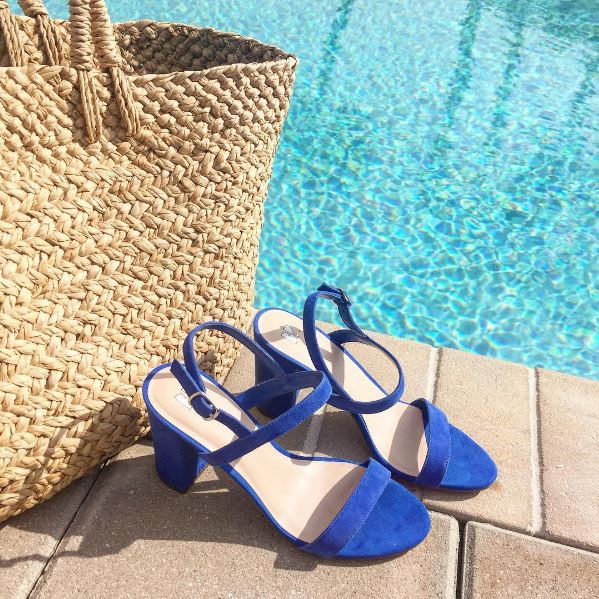 B.P. Blue suede sandals from Nordstrom.