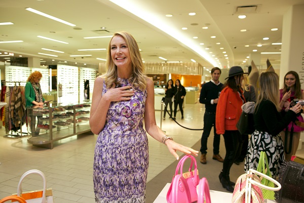Dee Ocleppo Hilfiger at Saks in Boston for an evening of shopping benefiting the Breast Cancer Research Foundation / Image c/o LJPR