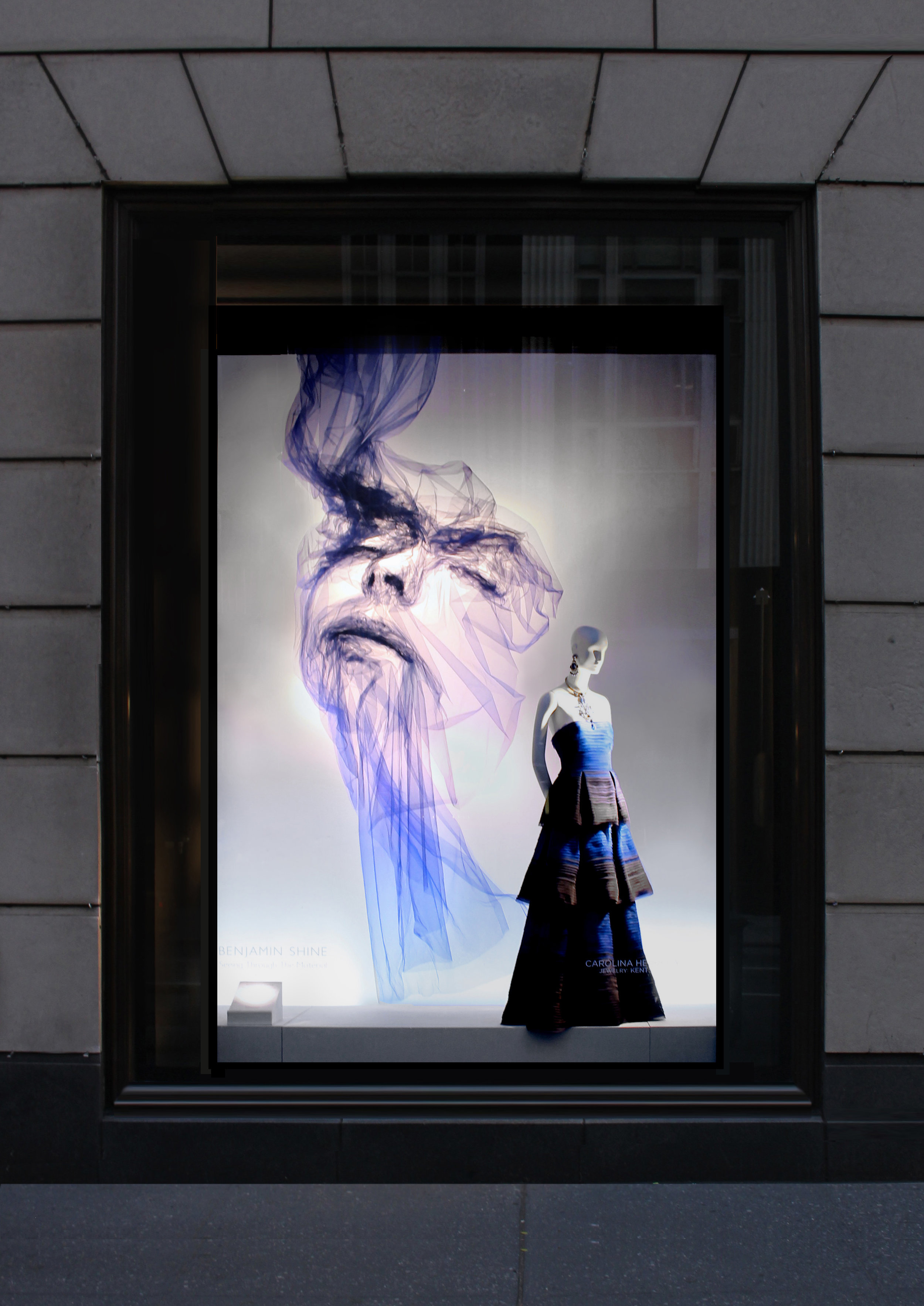 Seeing Through The Material by Benjamin Shine was on display at Bergdorf Goodman from July 7-August 3, 2017. Photo by Ricky Sehav
