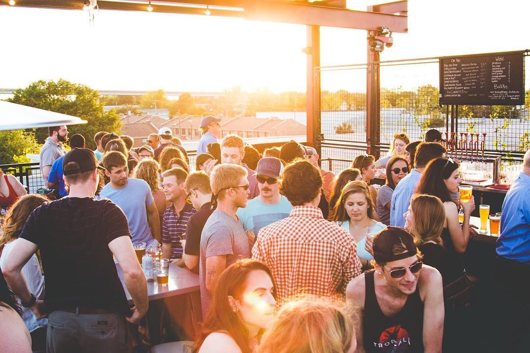 The rooftop at Revelry Brewing.Image via Revelry Brewing Co.