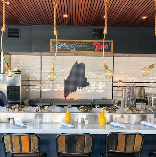 The oyster bar at the Boathouse. Image via The Boathouse