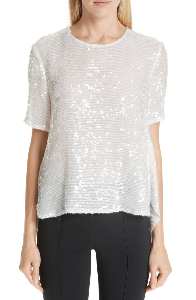 Adam Lippes White Sequin T-Shirt, $990  at Nordstrom