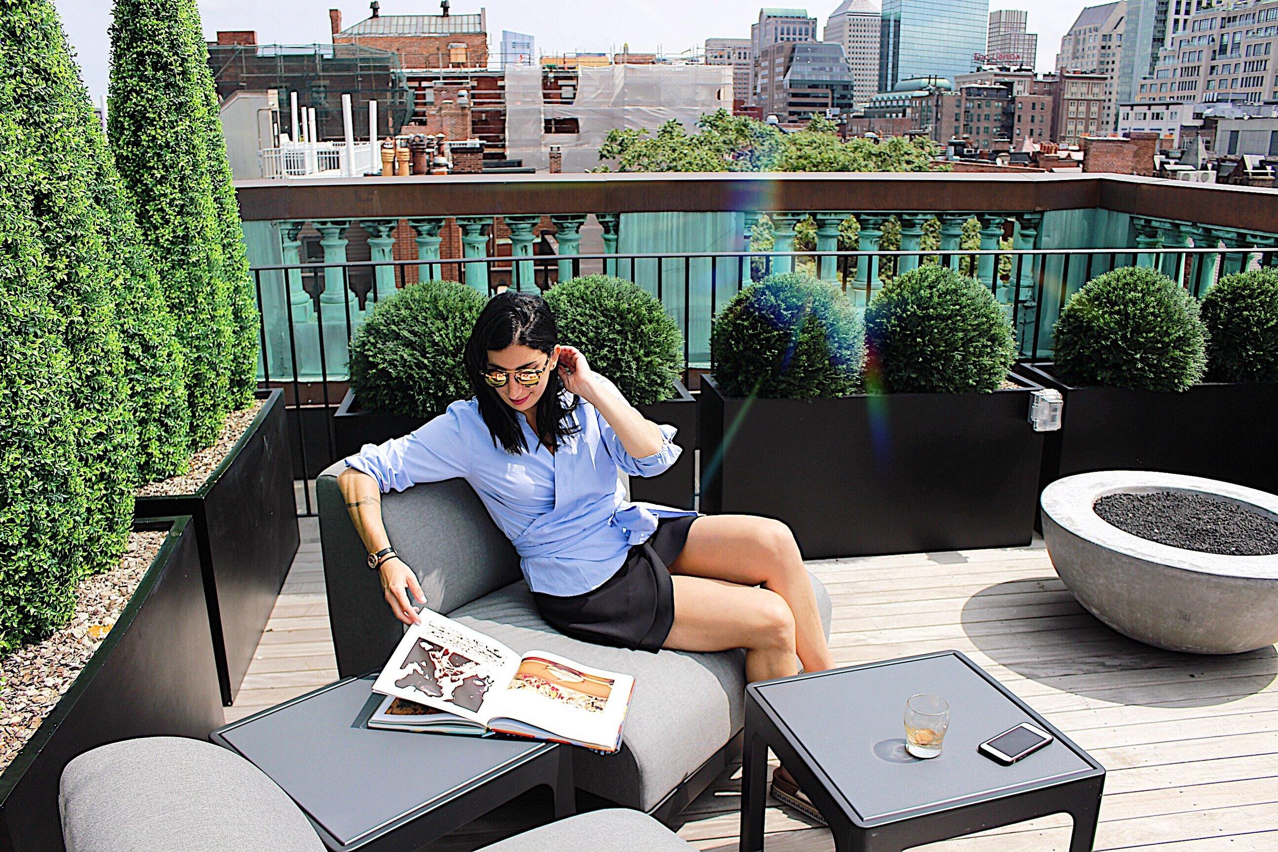 Rooftop hangs in No 284's Warhol Room