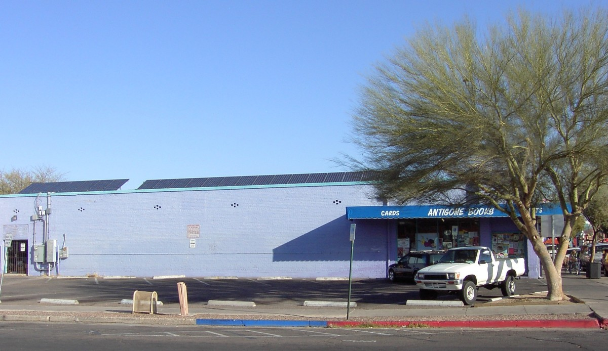 Antigone Books, Tucson, AZ 100% Solar
