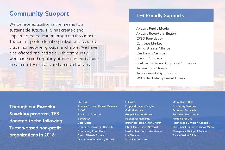 TFS - Annual Report: 2018 — Technicians For Sustainability