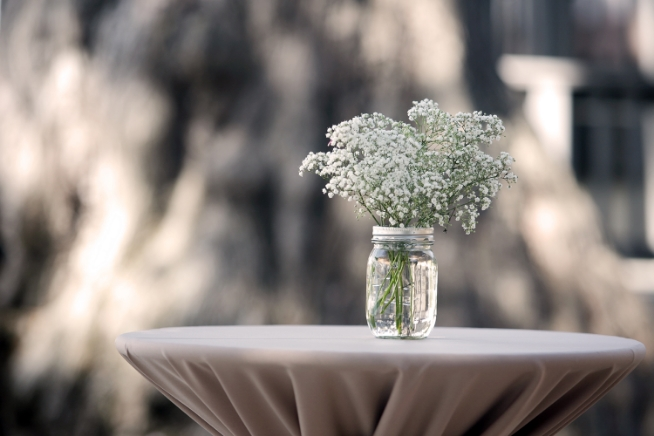 Baby's Breath Cocktail Table