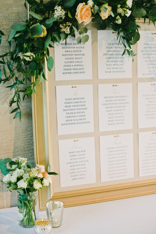 Escort Card Sign