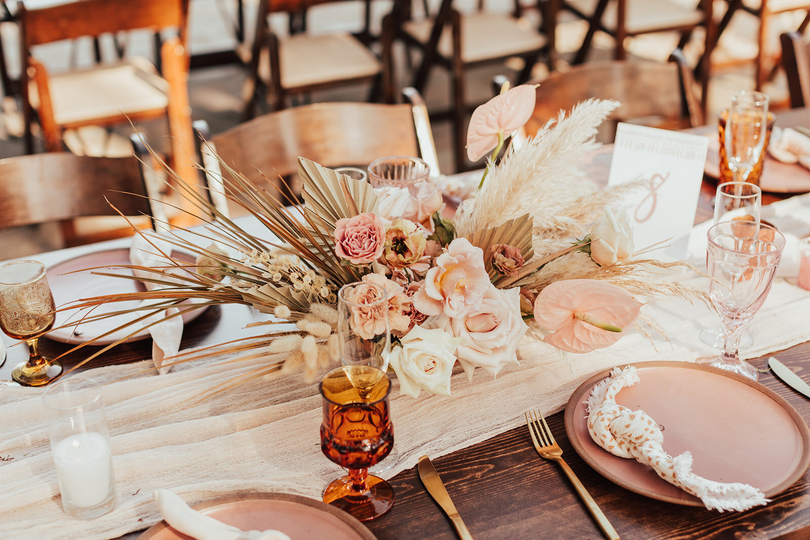 Blush and Wood Wedding at Leo Carrillo Ranch Bluebell Florals