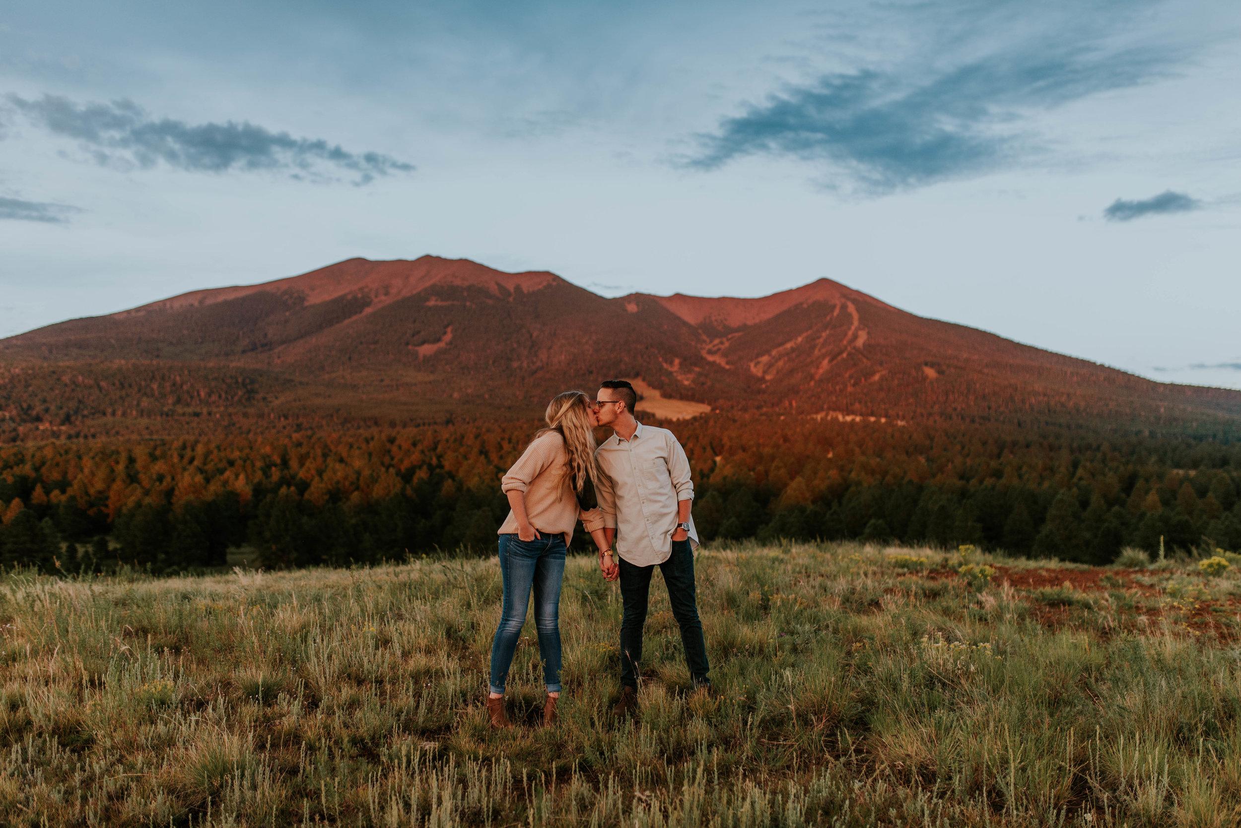 Flagstaff, Arizona Sunset Engagement - Taylor + Curtis-14.jpg