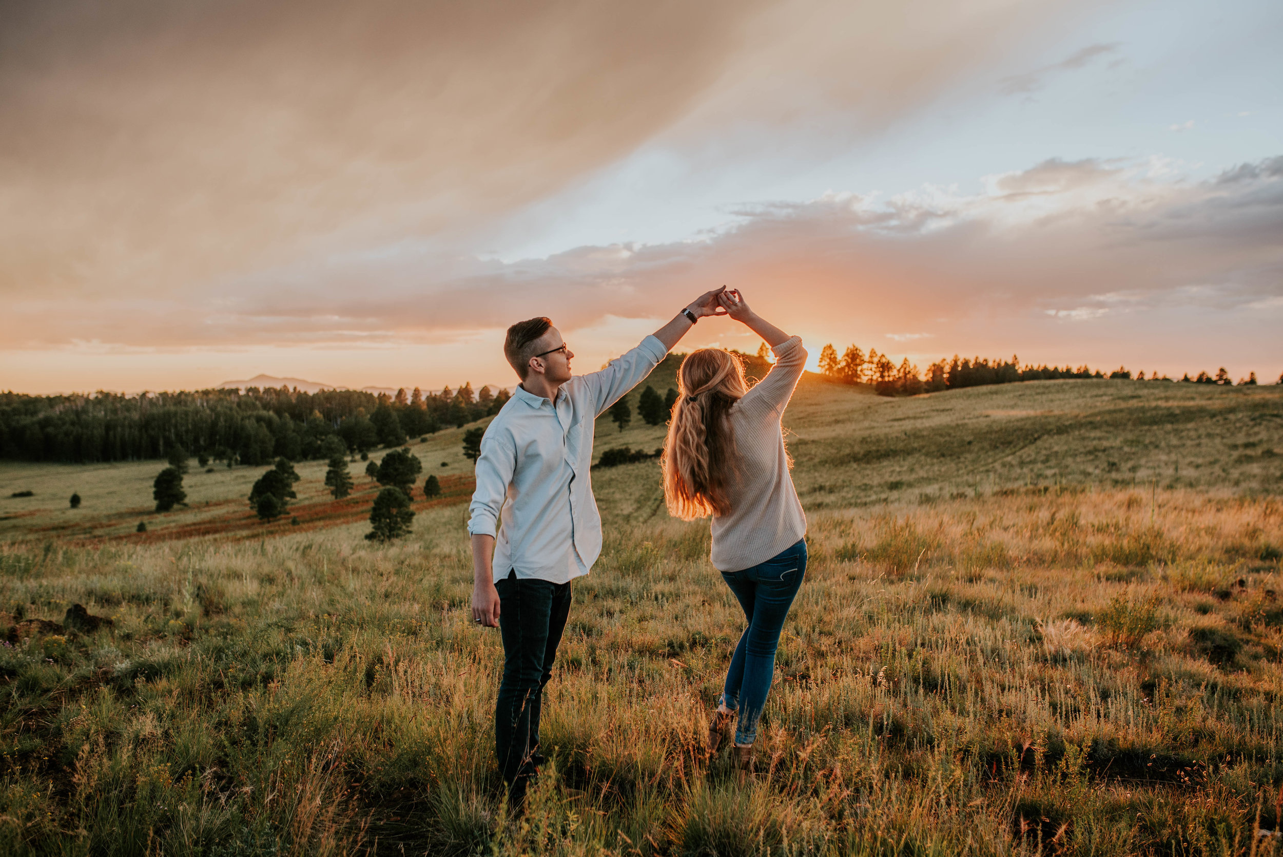 Flagstaff, Arizona Sunset Engagement - Taylor + Curtis-102.jpg