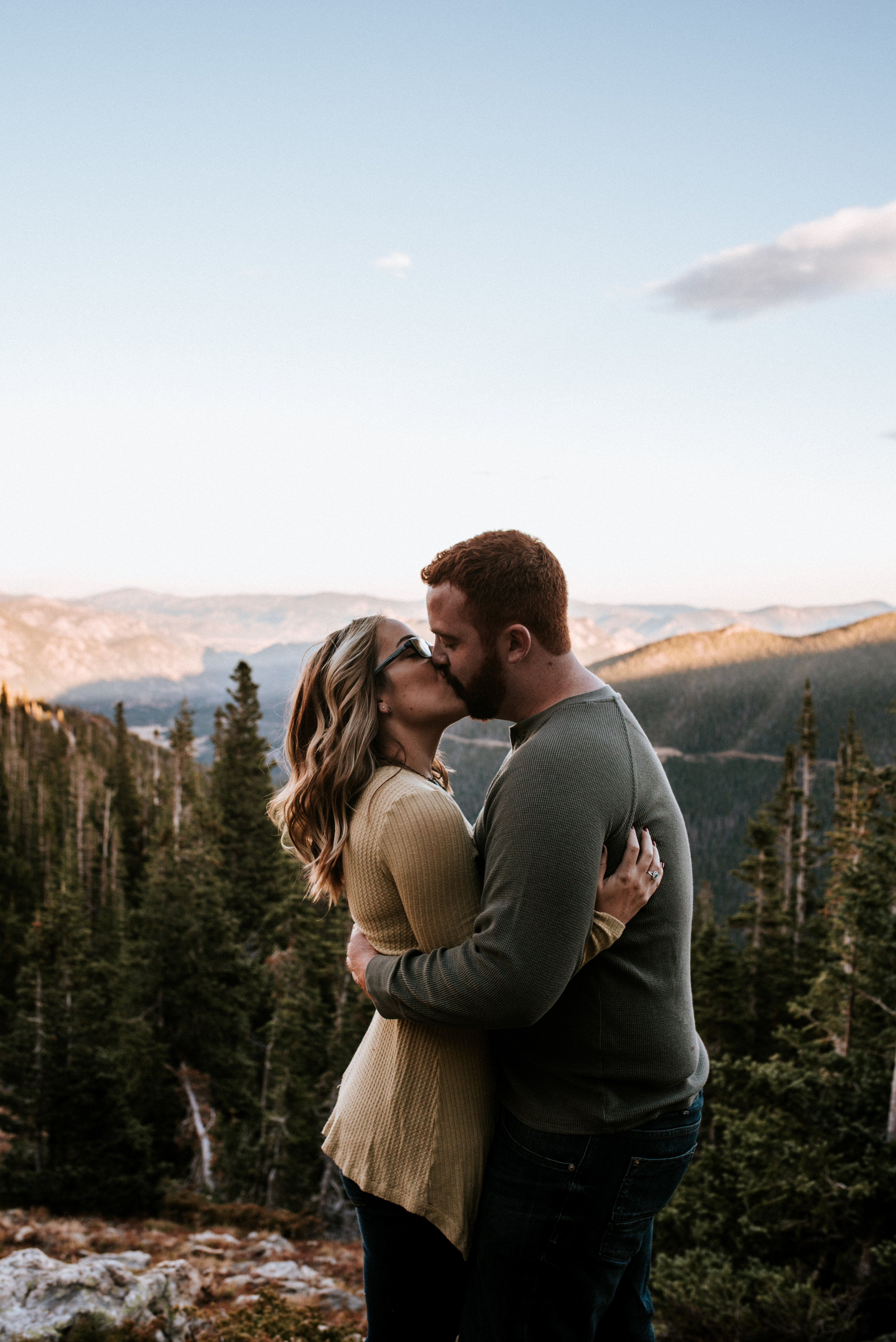 Romantic Windy Rocky Mountain National Park Engagement Photographer.jpg