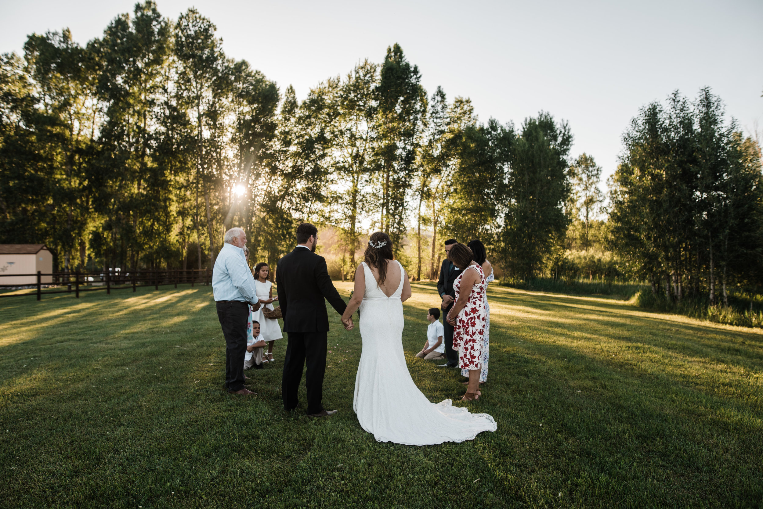 Intimate Backyard Colorado Wedding