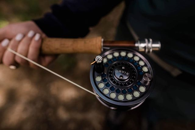 When your balancing skills have been perfected 😂😂 @orvis your reel makes for a great engagement ring holder along side catching those fish!