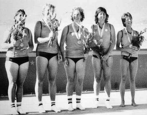 Margot Foster at 1984 LA Olympis. second from right