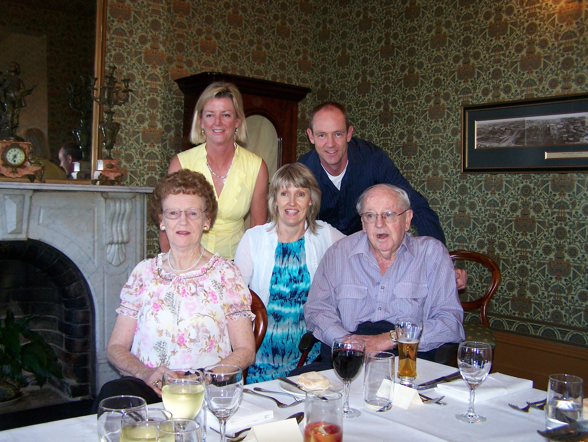 Ian MacInnes, pictured with wife Margaret and three adult children