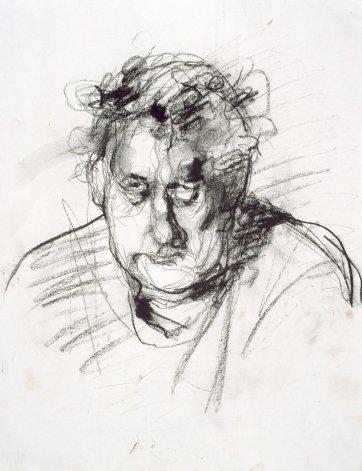 Portrait sketch by David Naseby, National Portrait Gallery