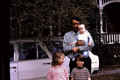 Robert 'Arfur' Sublet' with his three hildren and the family Valiant.