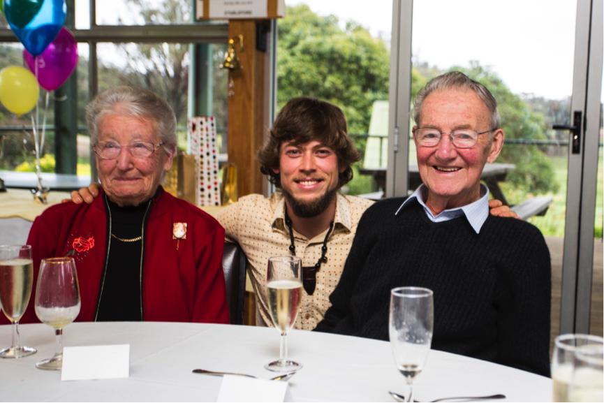 Lois Monaghan, Oliver Holmgren and Jack Monaghan