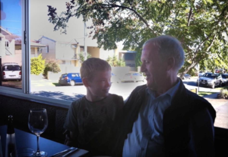 John Birmingham with his father, also John.